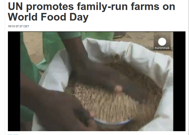 'UN Promotes Family Run Farms on World Food Day '